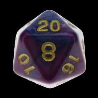 TDSO Duel Purple & Blue D20 Dice