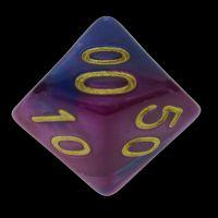 TDSO Duel Purple & Blue Percentile Dice