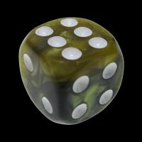 TDSO Duel Black & Gold With White 16mm D6 Spot Dice