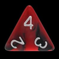 TDSO Duel Black & Red With White D4 Dice