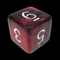 TDSO Duel Black & Red With White D6 Dice