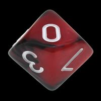TDSO Duel Black & Red With White D10 Dice