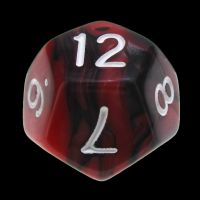TDSO Duel Black & Red With White D12 Dice