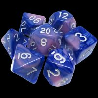 TDSO Duel Blue & Pink 7 Dice Polyset