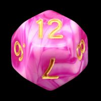 TDSO Duel Raspberry Ripple D12 Dice LIMITED EDITION