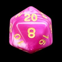 TDSO Duel Raspberry Ripple D20 Dice LIMITED EDITION