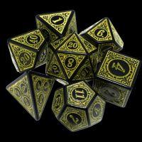 TDSO Magic Burst Black & Yellow 7 Dice Polyset