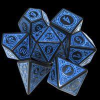 TDSO Magic Burst Black & Blue 7 Dice Polyset