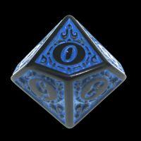 TDSO Magic Burst Black & Blue D10 Dice