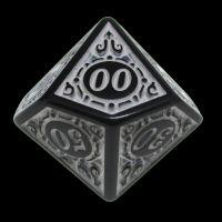 TDSO Magic Burst Black & White Percentile Dice