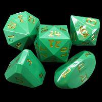 GameScience Opaque Spruce Green & Gold Ink Zocchi D3 D5 D14 D16 D24 Dice Set