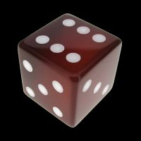 TDSO Carnelian with Engraved Spots 16mm Precious Gem D6 Dice
