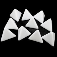 TDSO Opaque Blank White 16mm 10 x D6 Dice Set