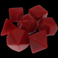 TDSO Opaque Blank Red 7 Dice Polyset