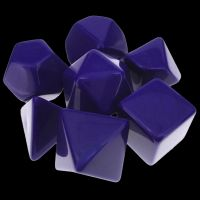 TDSO Opaque Blank Purple 7 Dice Polyset