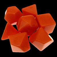 TDSO Opaque Blank Orange 7 Dice Polyset