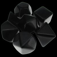 TDSO Opaque Blank Black 7 Dice Polyset