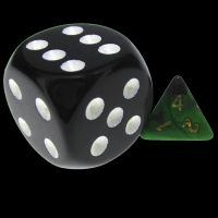 TDSO Duel Black & Green MINI 10mm D4 Dice