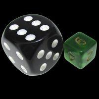 TDSO Duel Black & Green MINI 10mm D6 Dice