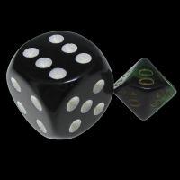 TDSO Duel Black & Green MINI 10mm Percentile Dice