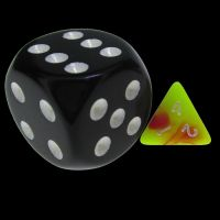 TDSO Duel Pink & Yellow MINI 10mm D6 Dice