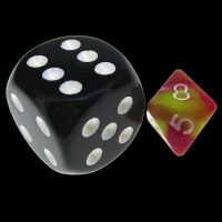 TDSO Duel Pink & Yellow MINI 10mm D8 Dice