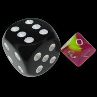 TDSO Duel Pink & Yellow MINI 10mm D10 Dice