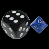 TDSO Duel Blue & Pink MINI 10mm D10 Dice