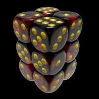 TDSO Duel Blood & Shadow 12 x D6 Dice Set