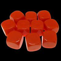 TDSO Opaque Blank Orange 16mm 10 x D6 Dice Set