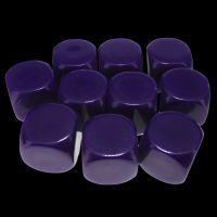 TDSO Opaque Blank Purple 16mm 10 x D6 Dice Set