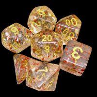 TDSO Metallic Flakes Ruby 7 Dice Polyset