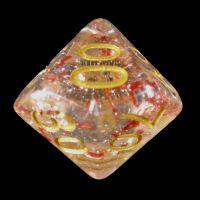 TDSO Metallic Flakes Ruby Percentile Dice