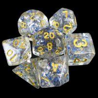 TDSO Metallic Flakes Sapphire 7 Dice Polyset