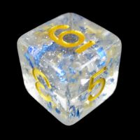 TDSO Metallic Flakes Sapphire D6 Dice