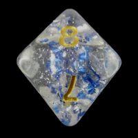 TDSO Metallic Flakes Sapphire D8 Dice