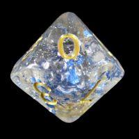 TDSO Metallic Flakes Sapphire D10 Dice