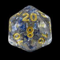 TDSO Metallic Flakes Sapphire D20 Dice
