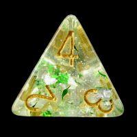 TDSO Metallic Flakes Emerald D4 Dice