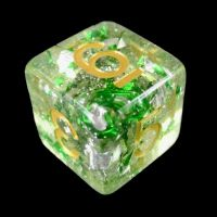TDSO Metallic Flakes Emerald D6 Dice