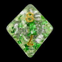 TDSO Metallic Flakes Emerald D8 Dice