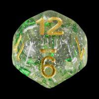 TDSO Metallic Flakes Emerald D12 Dice