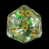 TDSO Metallic Flakes Emerald D20 Dice