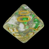 TDSO Metallic Flakes Emerald Percentile Dice