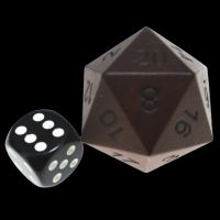 TDSO Rosewood Wooden JUMBO 34mm D20 Dice