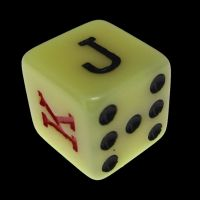 Koplow Opaque White Poker D6 Dice