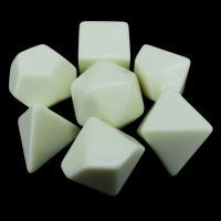 TDSO Opaque Blank Ivory 7 Dice Polyset