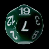 Impact Opaque Green & White D19 Dice