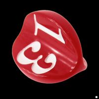 Impact Opaque Red & White Apple Core D3 Dice