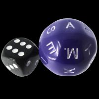 Impact Opaque Purple & White D26 Alphabet Dice